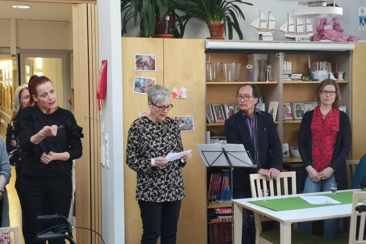 Palvelukeskus Salmelassa Juhlistettiin Tiistaina 26.3.  Suomen Kulttuurirahaston Tukemaa Taideprojektia