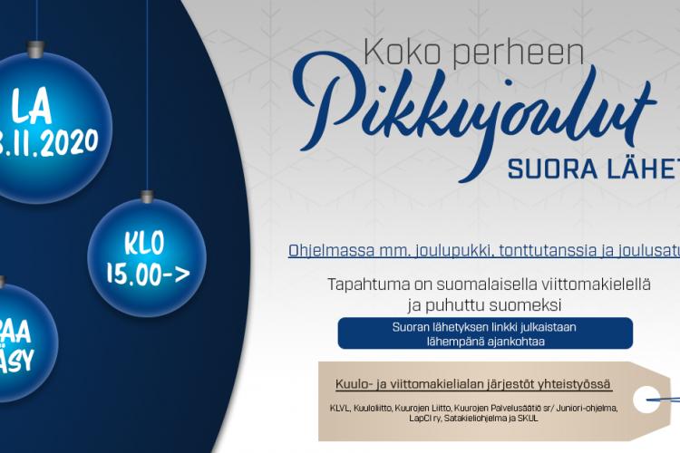 Mainos: Koko Perheen Pikkujoulut Suora Lähetys.